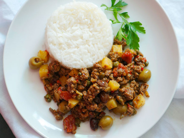 Picadillo With Ground Beef