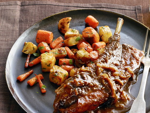 Braised Country Style Pork Ribs with Carrots and Turnips